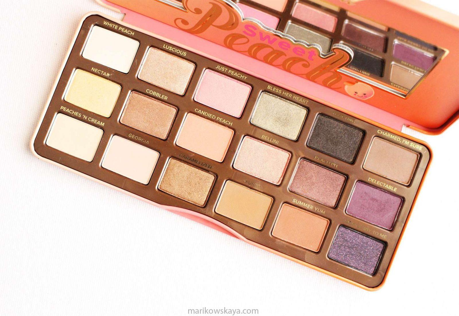 compras - to faced sweet peach palette