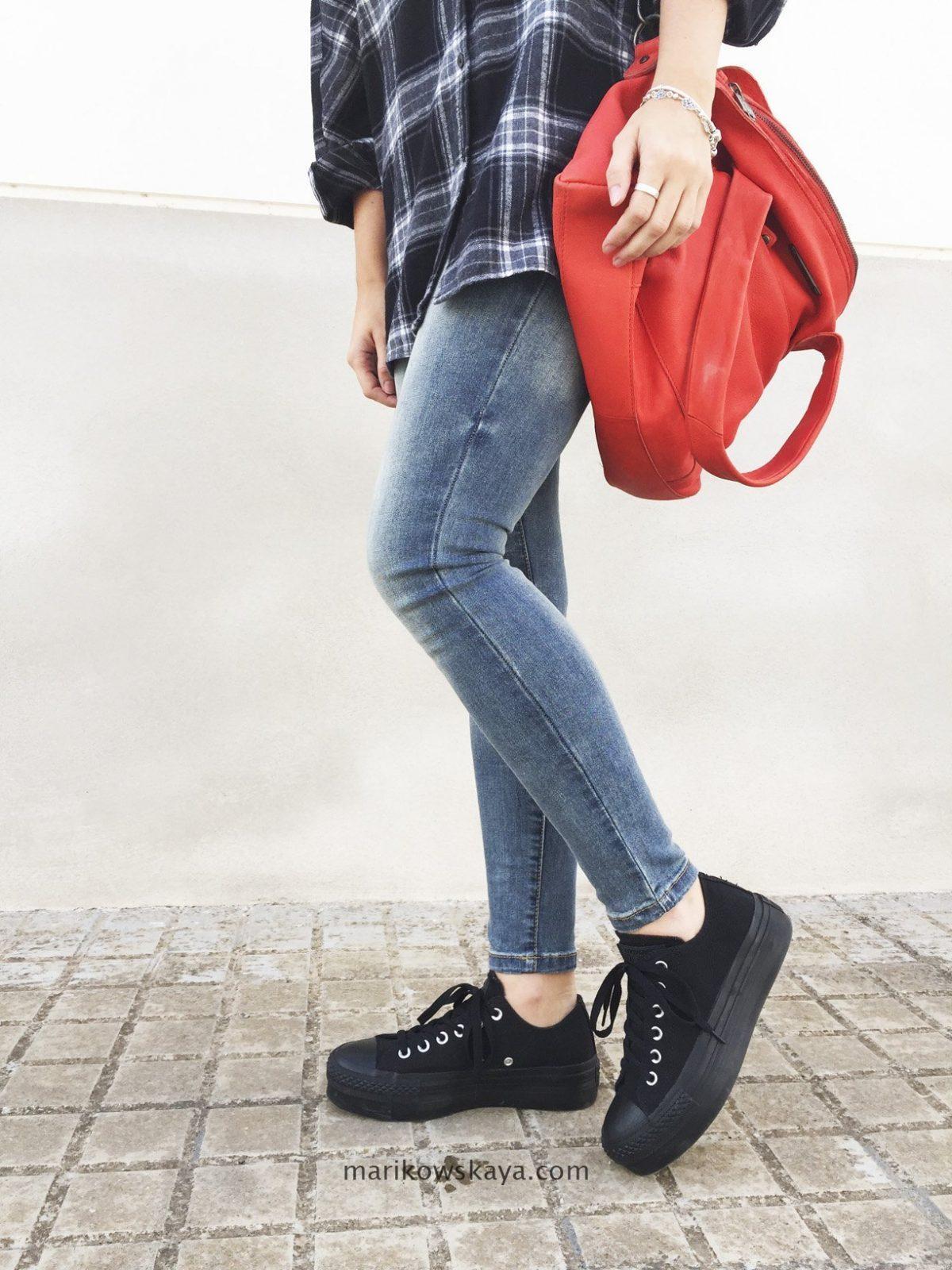 zapatillas converse plataforma negra
