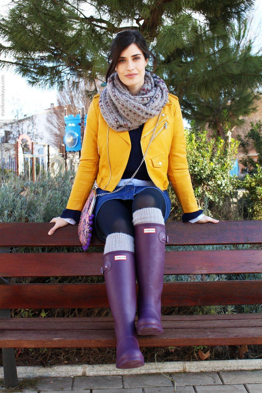 marikowskaya street style hunter boots 12