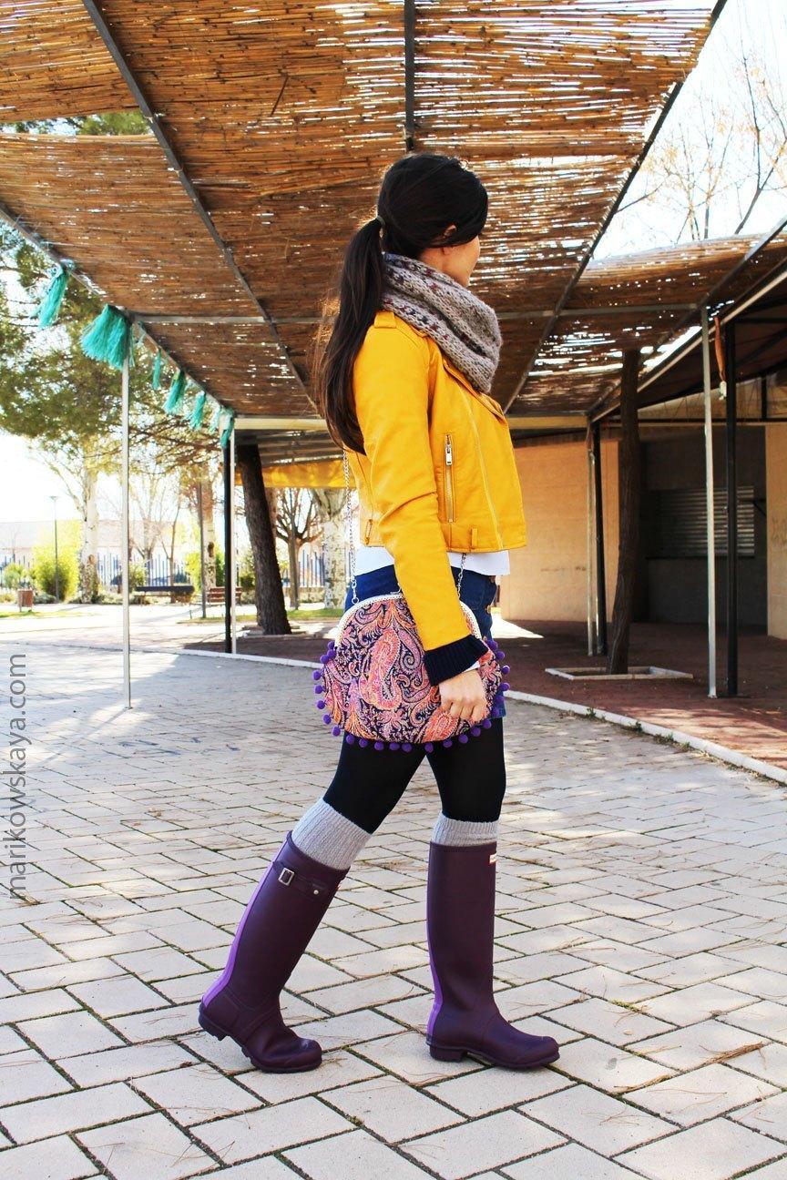marikowskaya street style hunter boots 7