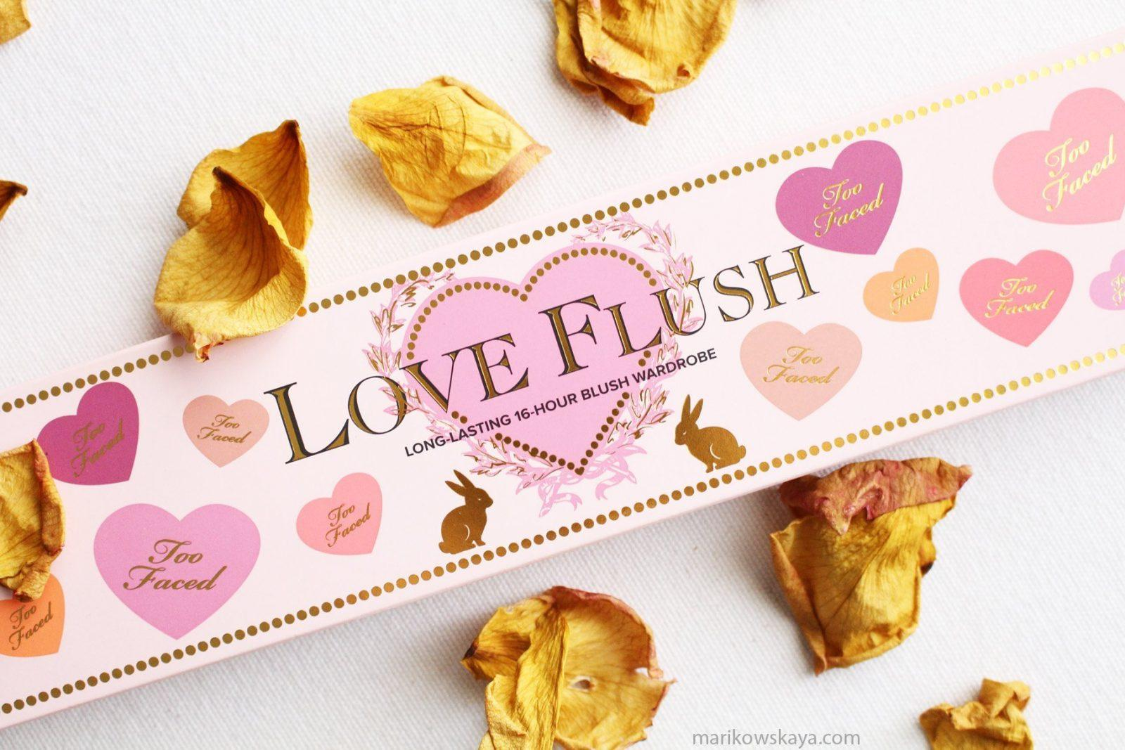 últimas compras too faced love flush