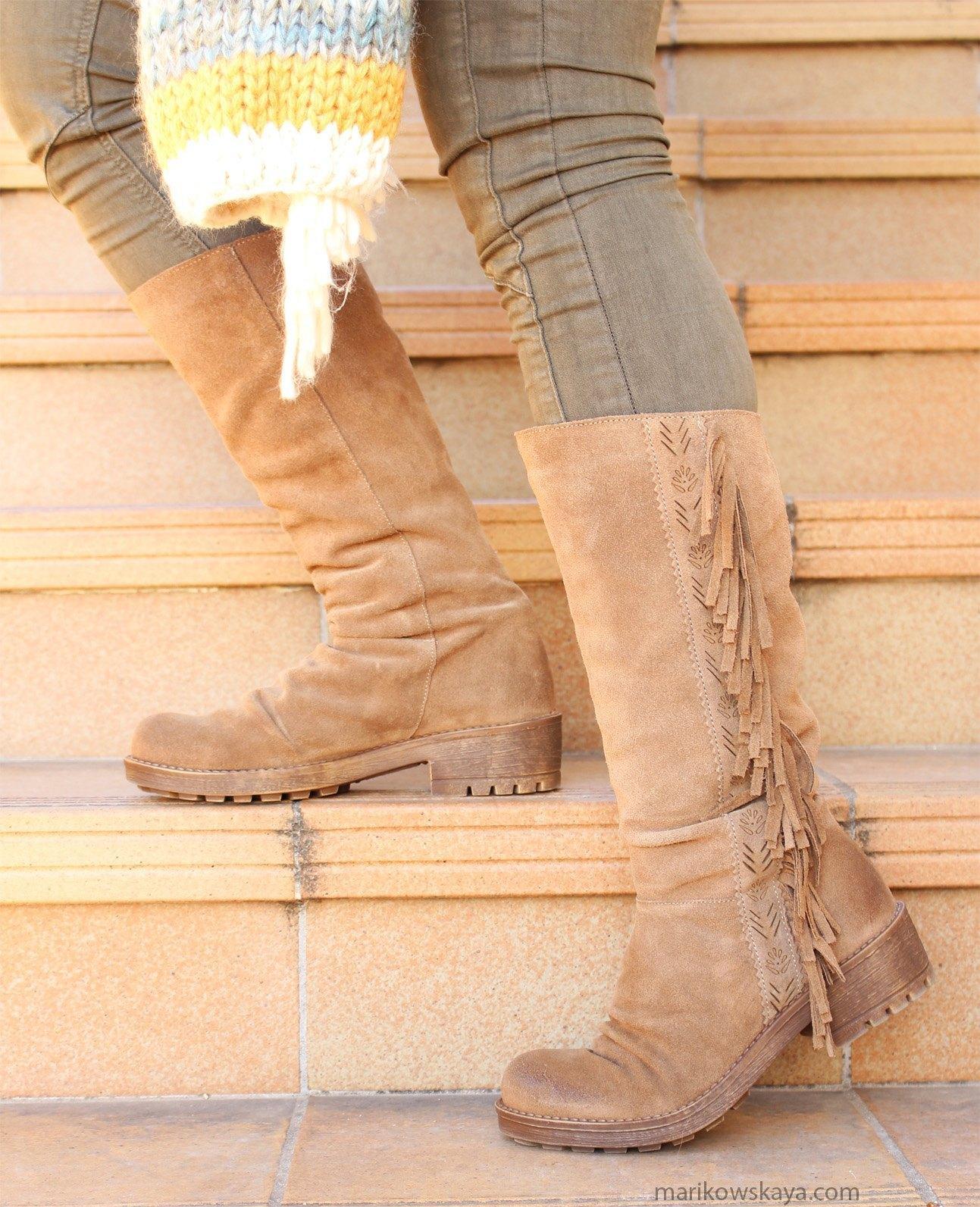 marikowskaya street style botas con flecos 13