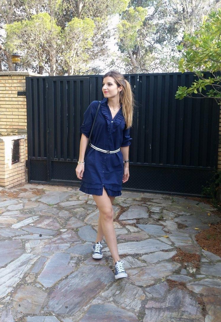 Converse Azul Marino Outfit Fundegue.es
