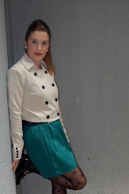 marikowskaya street style patri falda verde (3)