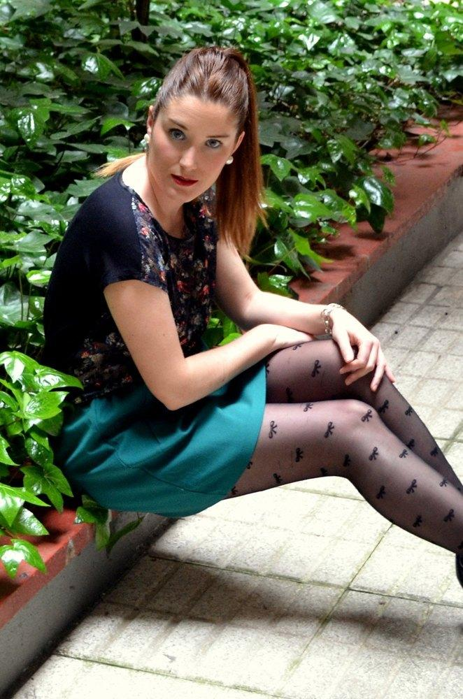 marikowskaya street style patri falda verde (4)