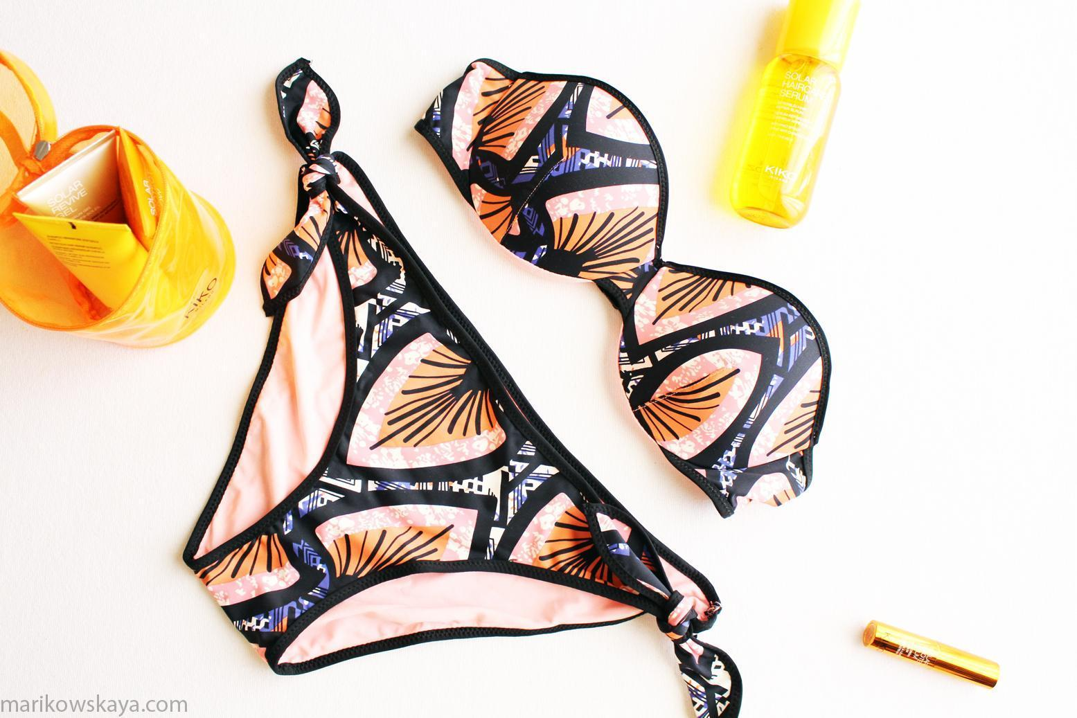 haul bikinis - woman secret estampado africano