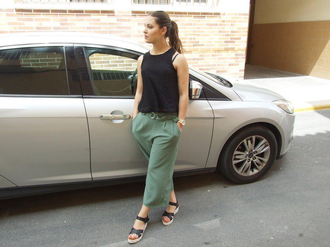 marikowskaya street style pantalón culotte kakhi (2)