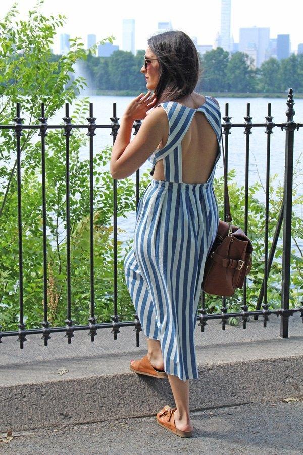marikowskaya street style carmen vestido rayas (4)