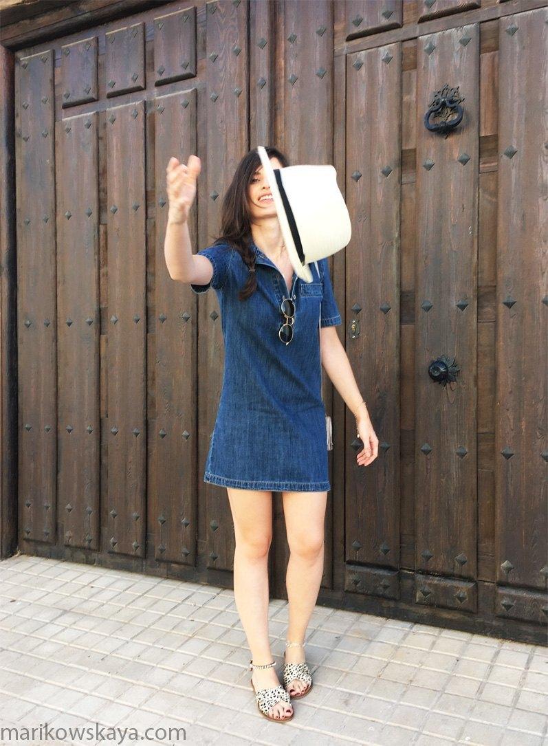 marikowskaya street style vestido vaquero 11
