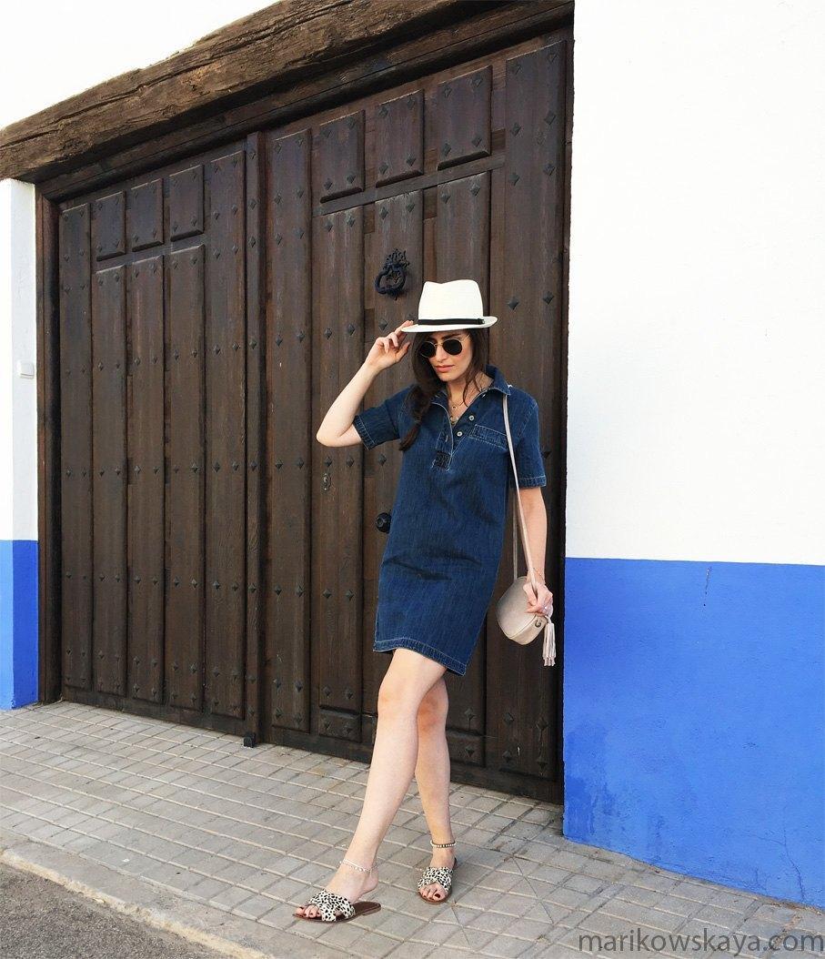 marikowskaya street style vestido vaquero 2