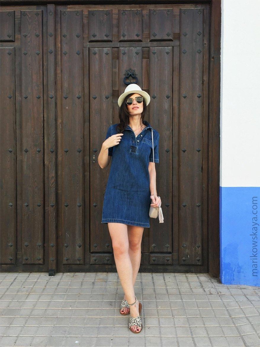 marikowskaya street style vestido vaquero 5