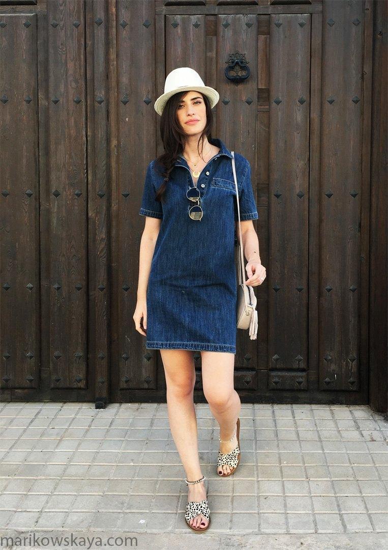 marikowskaya street style vestido vaquero 8