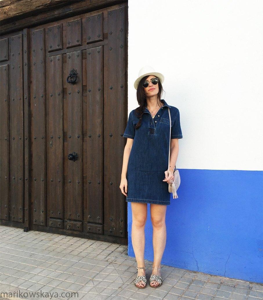 marikowskaya street style vestido vaquero