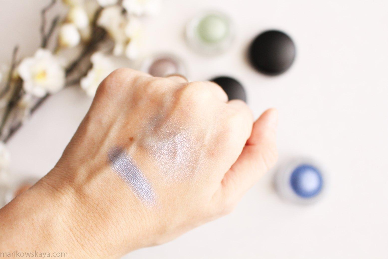 mac soft serve eyeshadow big bad blue 2