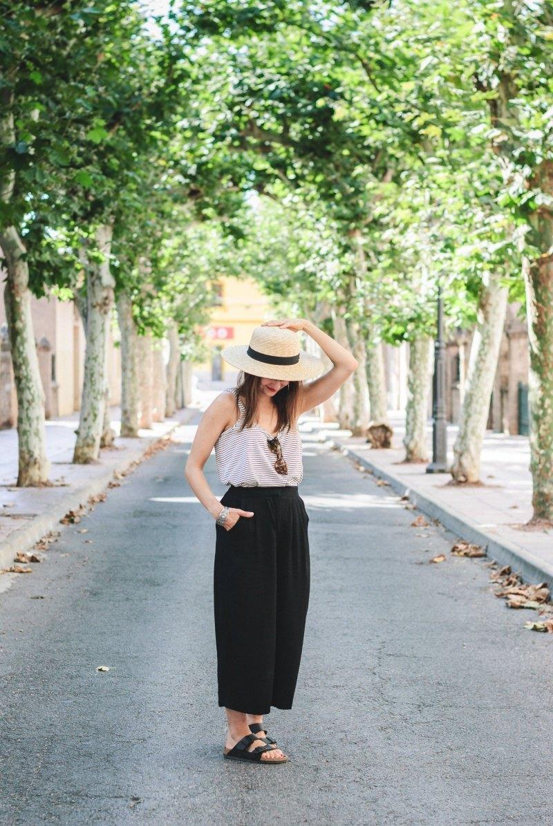 marikowskaya street style amparo stripes + black culotte (5)
