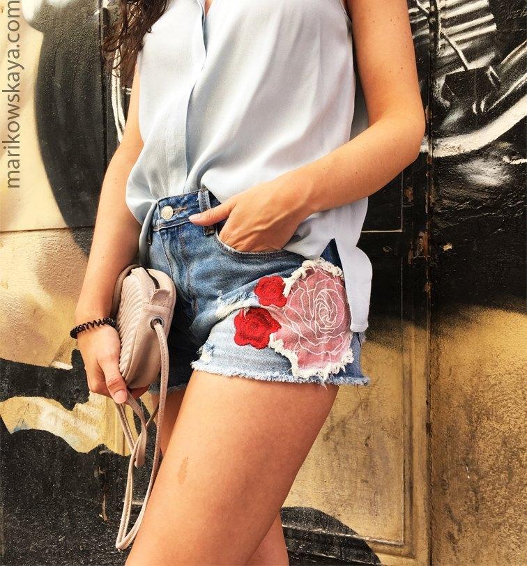 marikowskaya street style denim shorts 20