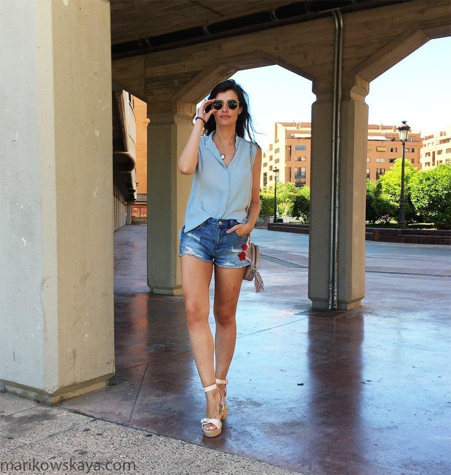 marikowskaya street style denim shorts 5