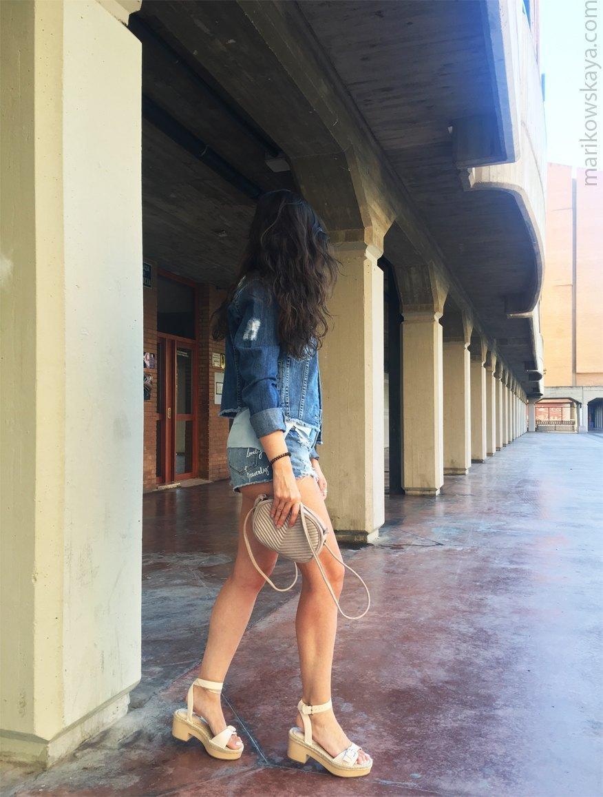 marikowskaya street style denim shorts 6