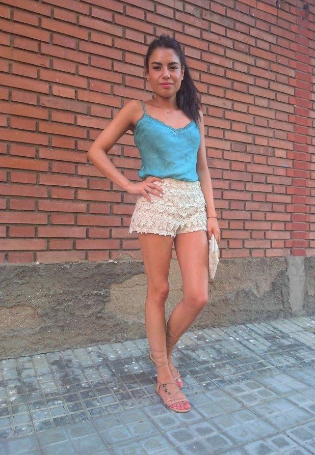 marikowskaya street style lu shorts crochet (1)