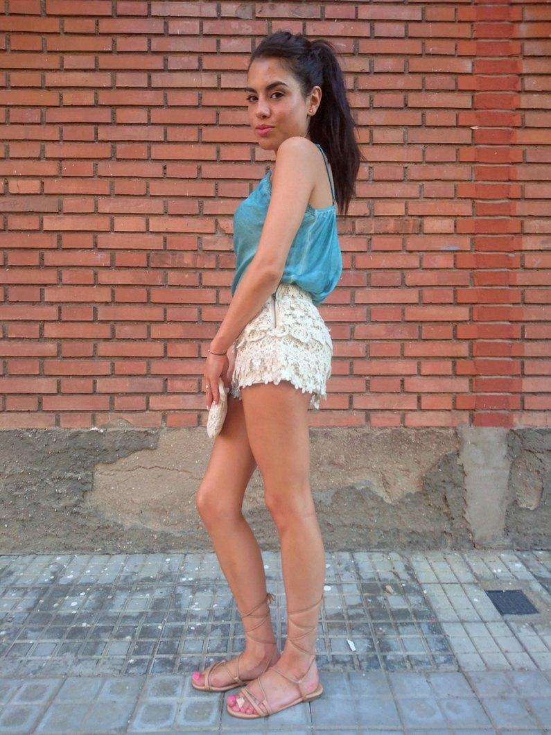 marikowskaya street style lu shorts crochet (6)