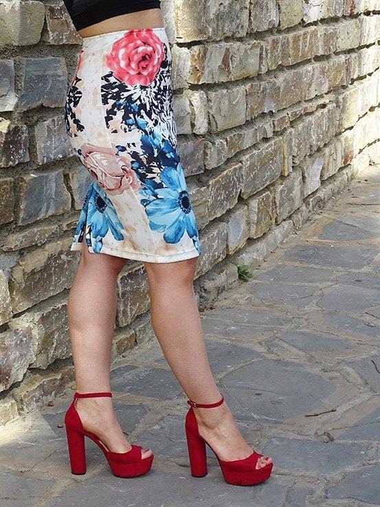 marikowskaya street style patricia falda tubo flores (1)