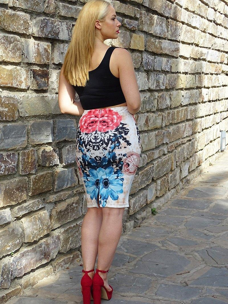 marikowskaya street style patricia falda tubo flores (10)