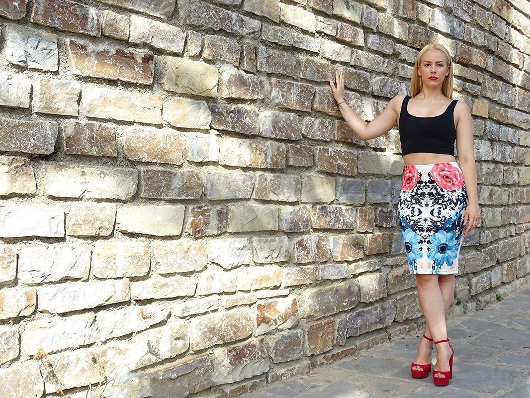 marikowskaya street style patricia falda tubo flores (8)