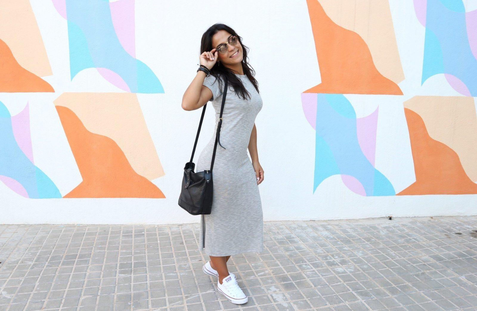 marikowskaya street style reyes vestido gris (3)