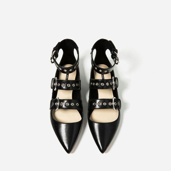 Zapato hebillas Zara