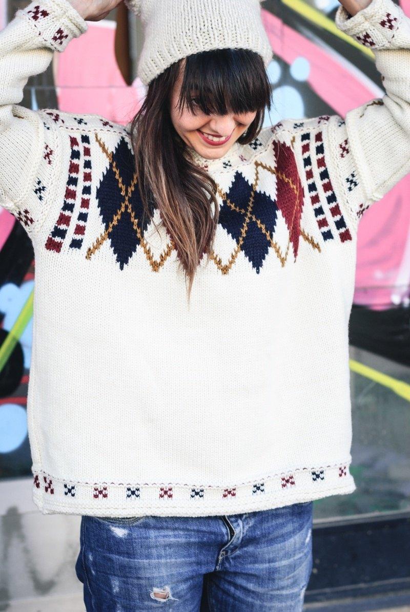 marikowskaya street style amparo jersey rombos (7)