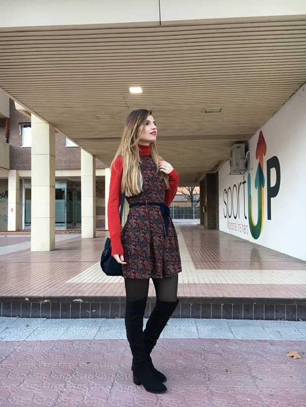 marikowskaya street style andrea botas altas negras (2)