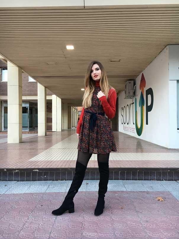 marikowskaya street style andrea botas altas negras (4)