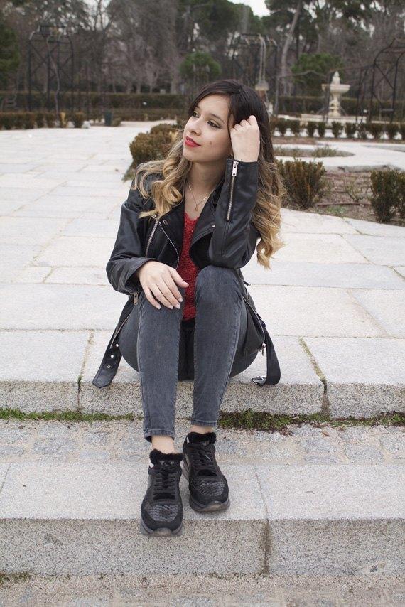 marikowskaya street style daniela chaleco de pelo (5)
