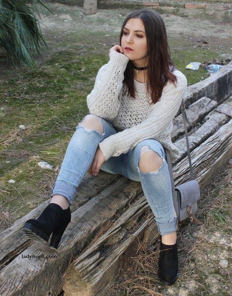 marikowskaya street style noelia ripped jeans