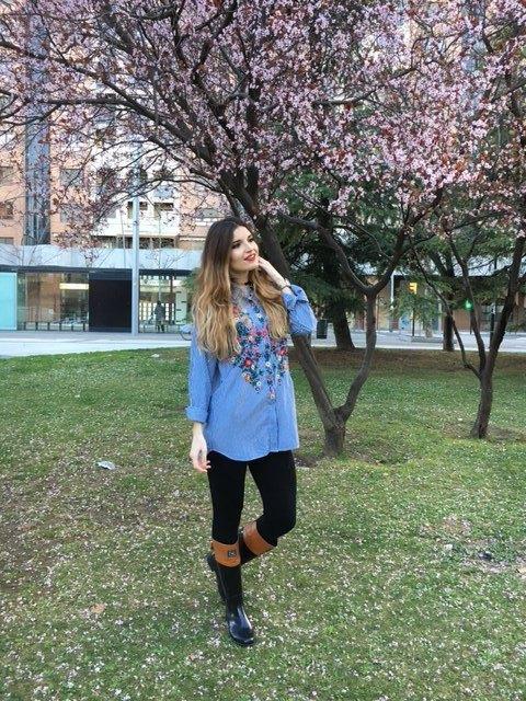 marikowskaya street style andrea camisa flores zara (5)