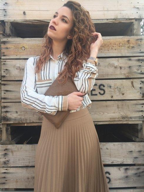 marikowskaya street style jennifer falda beige (1)
