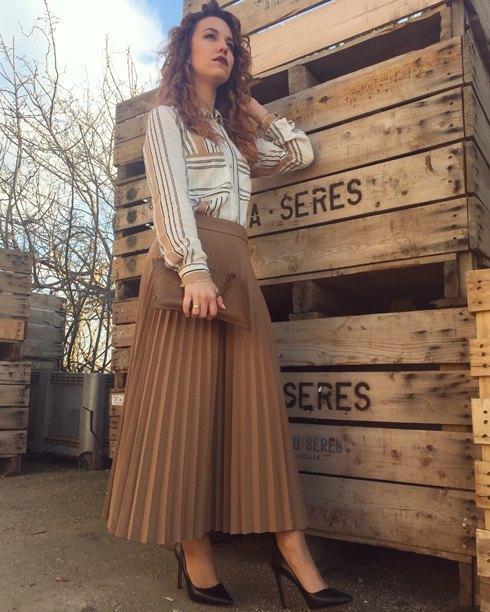 marikowskaya street style jennifer falda beige (3)
