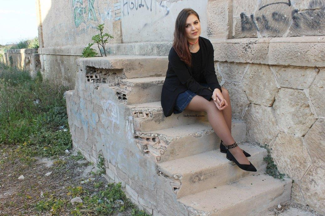 marikowskaya street style ladynoell falda vaquera (1)
