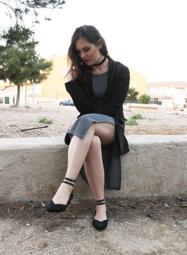 marikowskaya street style noelia vestido gris (7)