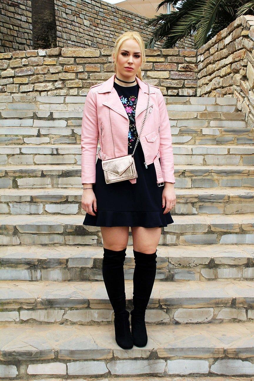 marikowskaya street style patri biker rosa (2)