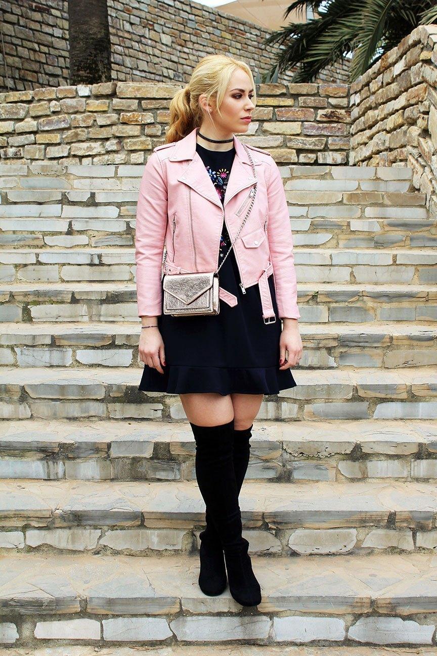 marikowskaya street style patri biker rosa (9)