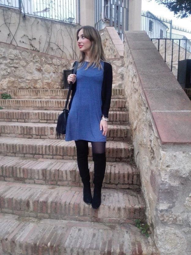 marikowskaya street style alicia vestido gris (1)