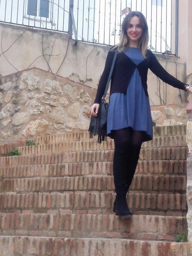 marikowskaya street style alicia vestido gris (3)