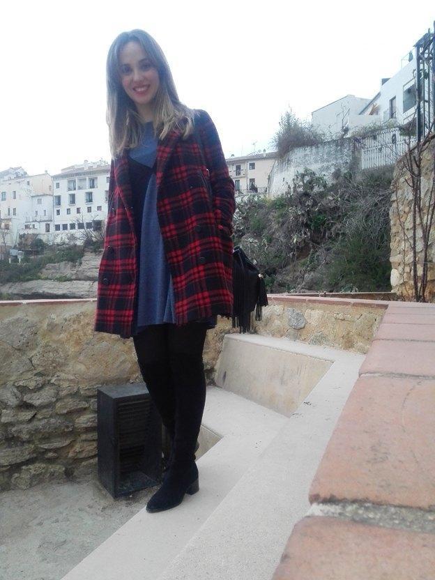 marikowskaya street style alicia vestido gris (4)