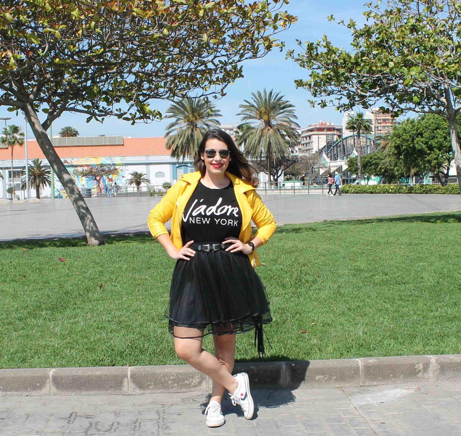 marikowskaya street style amanda chaqueta amarilla zara (1)