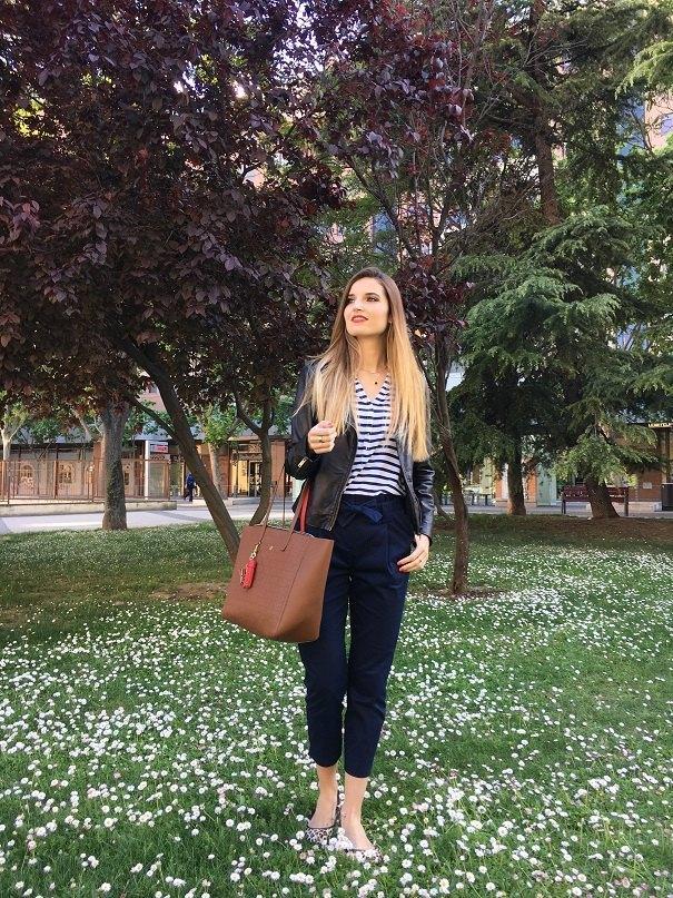 marikowskaya street style andrea camisa rayas (1)