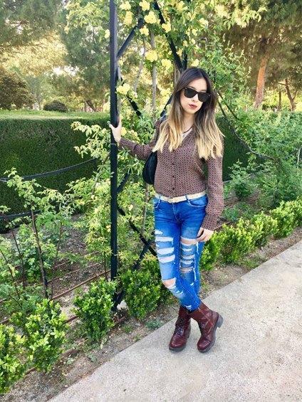 marikowskaya street style daniela ripped jeans (2)
