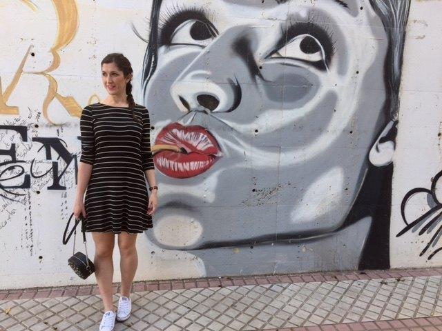 marikowskaya street style irene vestido rayas (3)