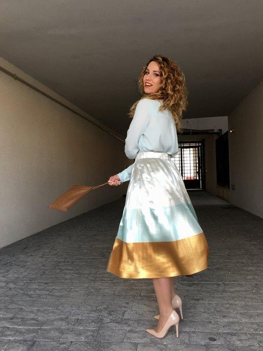 marikowskaya street style jennifer falda plisada (2)