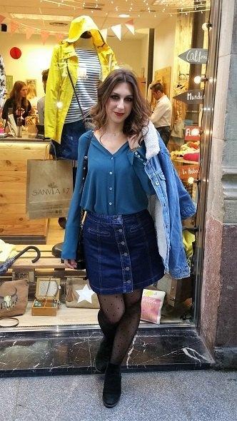 marikowskaya street style lorena falda vaquera (3)